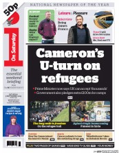 I Newspaper (UK) Newspaper Front Page for 5 September 2015