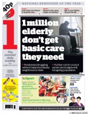 I Newspaper (UK) Newspaper Front Page for 7 July 2015