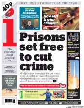 I Newspaper (UK) Newspaper Front Page for 8 February 2016