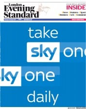 London Evening Standard (UK) Newspaper Front Page for 10 October 2017