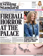 London Evening Standard (UK) Newspaper Front Page for 10 February 2016