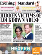 London Evening Standard front page for 10 July 2020