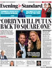London Evening Standard () Newspaper Front Page for 11 December 2019