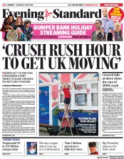 London Evening Standard (UK) Newspaper Front Page for 11 May 2020