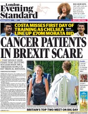 London Evening Standard (UK) Newspaper Front Page for 11 July 2017
