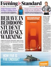 London Evening Standard front page for 11 September 2020