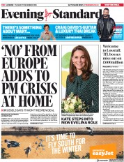 London Evening Standard (UK) Newspaper Front Page for 12 December 2018
