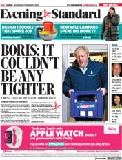London Evening Standard () Newspaper Front Page for 12 December 2019