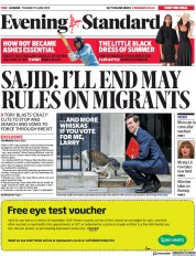 London Evening Standard () Newspaper Front Page for 12 June 2019