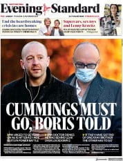 London Evening Standard front page for 13 November 2020