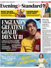 London Evening Standard () Newspaper Front Page for 13 February 2019