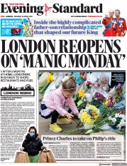 London Evening Standard front page for 13 April 2021