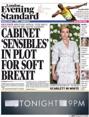 London Evening Standard (UK) Newspaper Front Page for 13 June 2017