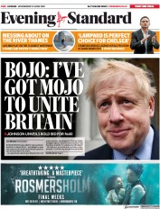 London Evening Standard (UK) Newspaper Front Page for 13 June 2019