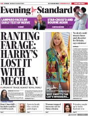 London Evening Standard (UK) Newspaper Front Page for 13 August 2019