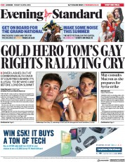 London Evening Standard (UK) Newspaper Front Page for 14 April 2018
