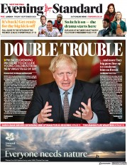 London Evening Standard front page for 14 September 2020