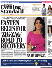 London Evening Standard () Newspaper Front Page for 15 November 2012