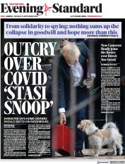 London Evening Standard front page for 15 September 2020
