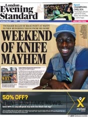 London Evening Standard (UK) Newspaper Front Page for 16 May 2017