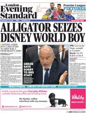 London Evening Standard () Newspaper Front Page for 16 June 2016