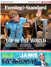 London Evening Standard () Newspaper Front Page for 16 July 2019