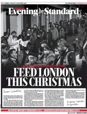 London Evening Standard front page for 17 November 2020