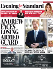 London Evening Standard (UK) Newspaper Front Page for 17 January 2020