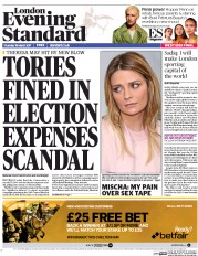 London Evening Standard (UK) Newspaper Front Page for 17 March 2017