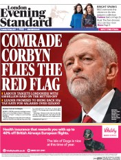 London Evening Standard (UK) Newspaper Front Page for 17 May 2017