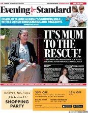 London Evening Standard (UK) Newspaper Front Page for 17 May 2018