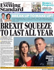 London Evening Standard (UK) Newspaper Front Page for 17 August 2017