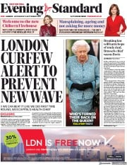 London Evening Standard front page for 17 September 2020