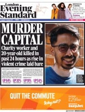 London Evening Standard (UK) Newspaper Front Page for 18 October 2017