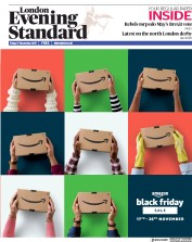 London Evening Standard (UK) Newspaper Front Page for 18 November 2017