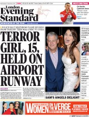 London Evening Standard (UK) Newspaper Front Page for 18 December 2014