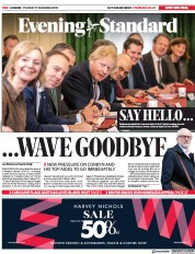 London Evening Standard () Newspaper Front Page for 18 December 2019