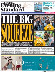 London Evening Standard (UK) Newspaper Front Page for 18 May 2017