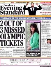 London Evening Standard Newspaper Front Page (UK) for 18 June 2011