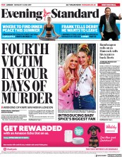 London Evening Standard (UK) Newspaper Front Page for 18 June 2019