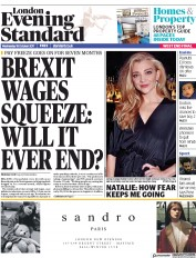 London Evening Standard (UK) Newspaper Front Page for 19 October 2017