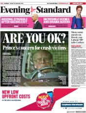 London Evening Standard (UK) Newspaper Front Page for 19 January 2019