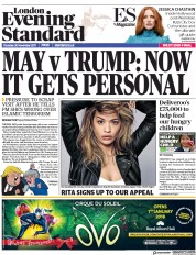 London Evening Standard (UK) Newspaper Front Page for 1 December 2017