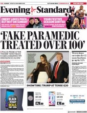 London Evening Standard (UK) Newspaper Front Page for 1 December 2018