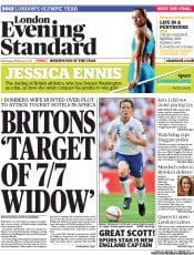 London Evening Standard (UK) Newspaper Front Page for 1 March 2012