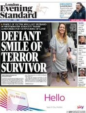 London Evening Standard (UK) Newspaper Front Page for 1 April 2017