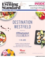 London Evening Standard (UK) Newspaper Front Page for 1 June 2017