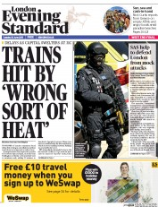 London Evening Standard (UK) Newspaper Front Page for 1 July 2015