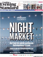 London Evening Standard (UK) Newspaper Front Page for 20 April 2017