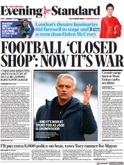 London Evening Standard front page for 20 April 2021